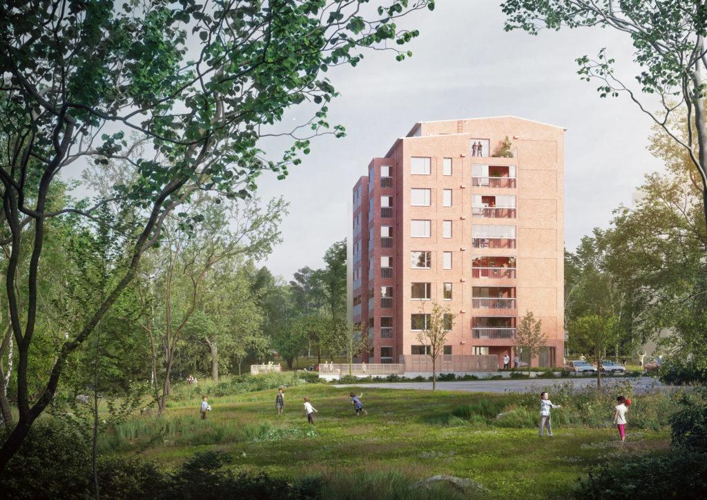 Toivo Group rakennuttaa Nokian uudelle Nanson alueelle 49 asunnon kerrostalon kestävän kehityksen periaattein.